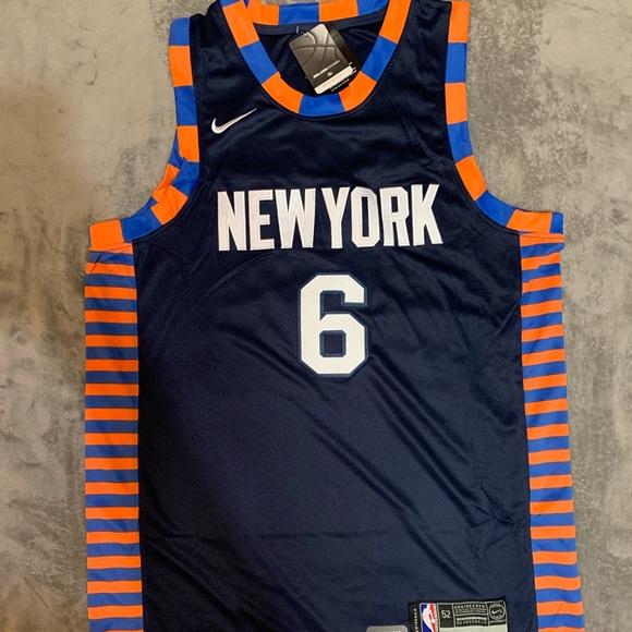 uk availability 9d17a 555ea Porzingis #6 New York Knicks Jersey NWT